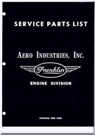 Franklin 6A4-2150-B3 Aircraft Engine  Spare Parts Catalog   Manual  ( English Language )