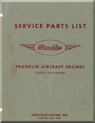 Franklin 6A4-165-B3 Aircraft Engine  Spare Parts Catalog   Manual  ( English Language )