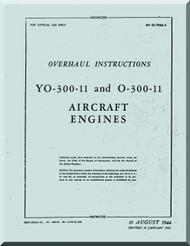 Franklin  YO-300-11 O-300-11  Aircraft Engine  Service Instruction   Manual  ( English Language )