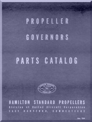 Hamilton Standard Governors Aircraft Propeller Part Manual -124 - 1955