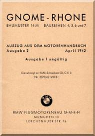 Rhone Gnome Type 14M Notice Technique  Baureihen 2, 5, 6, and 7  ( German Language )