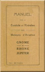 Rhone Gnome Jupiter Operating Manual ( French Language )
