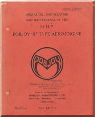 "Pobjoy "" R ""   Aircraft Engine  Operation, Installation and Maintenance Manual  ( English Language )"