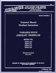Hamilton Standard  Aircraft Propeller Variable Pitch Overhaul Manual