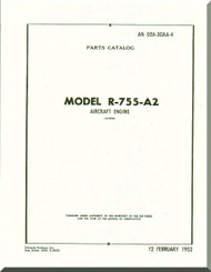Jacobs R-755 A2  Aircraft Engine Parts Catalog Manual  ( English Language )