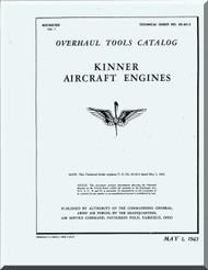 Kinner Aircraft Engine Overhaul  Tools Manual  ( English Language )