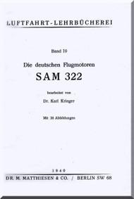 BMW Siemens Bramo SAM 322   Engine Technical  Manual  (German Language )