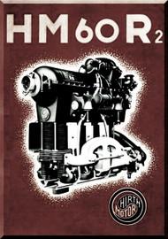 Hirth Motor HM 60 R/2  Aircraft Engine HTechnical  Manual  ( German Language )  Prospekt