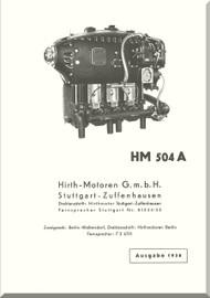 Hirth Motoren   HM 504 A-2  Engine Technical  Manual  (German Language ) Hirth HM 504 A1 Betr.- und Wart.-Vorschrift-1936
