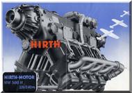 Hirth Motor HM 508   Aircraft Engine Technical  Manual  ( German Language )  Prospekt
