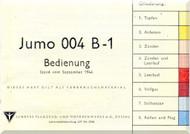 Junkers Flugzeug- und Motorenwerke A.G. Dessau  Aircraft Engine Operation  Manual  ( German Language ) Bedienung