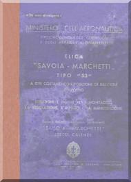 Savoia Marchetti 53 Aircraft Propeller Maintenance Manual - Elica -
