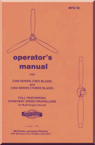 Mc Cauley C300 C500 Series Aircraft Propeller Operator Manual