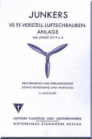 Junkers Aircraft Propeller VS11 Instruction Manual