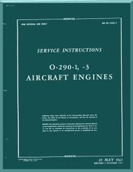 Lycoming O-290-1, -3 Aircraft Engine Service Manual  ( English Language ) ,  T.O. 02-15CA-2 , 1943