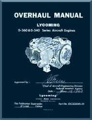 Lycoming  O-360 and O-540 Aircraft Engine Overhaul Manual  ( English Language )