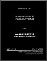 Lycoming  Prestolite Aircraft Engine Maintenance Publication  Manual  ( English Language ) , 1985