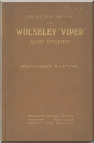 Wolseley  Viper Aero  Aircraft Engine Service Manual  ( English Language )
