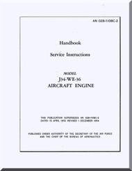 Westinghouse J34-WE-36  Aircraft Engine Service  Manual  ( English Language )