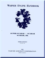 Warner Super Scarab   Aircraft Engine Handbook Manual  ( English Language )