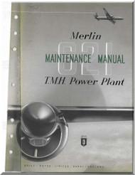 Rolls Royce Merlin 621 Aircraft Engine Maintenance Manual,    (English Language )