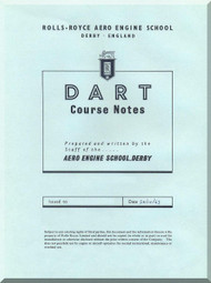 Rolls Royce Dart Aircraft Engine Course Note Manual - 1963
