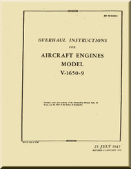 Rolls Royce Packard Merlin V1650 -9  Aircraft Engine Overhaul  Manual, AN 02-55AD-3 - 1945