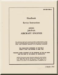 Pratt & Whitney J48-P-6  Aircraft Engine Service Instruction Handnook  Manual  -1953 AN 02B-10BA-2