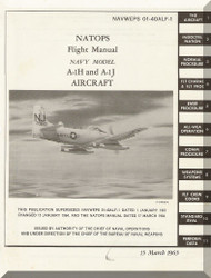 Douglas A-1H and A-1J Aircraft Flight  Manual NAVWEPS 01-40ALF-1 ,  1965
