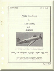 Douglas A-1H and A-1J Aircraft Flight  Manual AN 01-40AQ-1 ,  1946