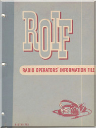 Radio Information File Manual Aircraft B-17 B-24 B-25 B-29  - 1945