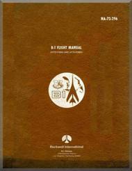 North American Aviation / Rockwell international B-1 A Aircraft  Flight  Manual Report NA-73-296
