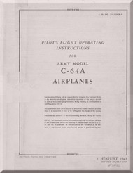Nooduyn Norseman C-64 A Aircraft  Pilot's Flight Operating Instructions  Manual AN  0155CB-1, 1943