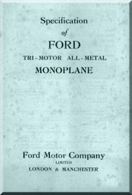 Ford Trimotor Specification Manual 1929