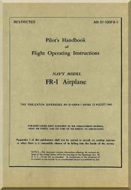 Ryan FR-1 Airplane Pilot's Handbook of Flight Operating Instructions Manual -  AN 01-100FA-1, 1945