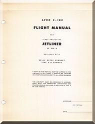 Avro C-102 Jet liner Aircraft Flight Manual