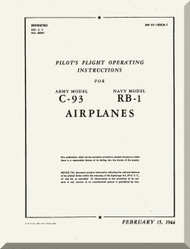 Budd C-93 RB-1 Conestoga Pilot's flight Operating Instructions AN 01-185CA-1, 1944