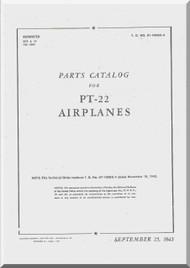 Ryan PT-22  Airplane Parts Catalog Manual -  T.O. 01-100GC-4 -1943