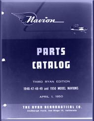 Ryan Navion  Airplane Illustrated Parts Catalog  Manual - 1947