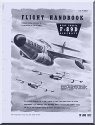 Northrop F-89 D  Aircraft Flight Manual  A.N 1F-89D-1 , 1957