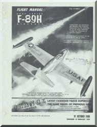 Northrop F-89 H  Aircraft Flight Manual  A.N 1F-89H-1 , 1958