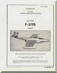 Northrop F-89 B  Aircraft Flight Manual  A.N 01-15FDB-1 , 1951