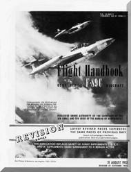 Northrop F-89 C  Aircraft Flight Manual  A.N 1F-89C-1 , 1953