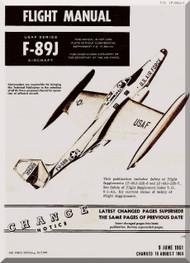 Northrop F-89 J  Aircraft Flight Manual  A.N 1F-89J-1 , 1961