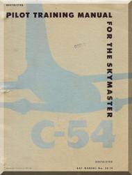 Douglas C-54  Aircraft  Pilot Training Manual