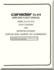 Canadair CL-215  Aircraft Flight Operating  Manual