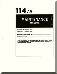 Aero Commander 114 A  Aircraft Maintenance  Manual, 1976