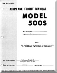 Aero Commander 500 S Aircraft Flight Manual - 1968