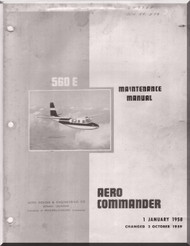 Aero Commander 560 E  Aircraft Maintenance Manual - 1960