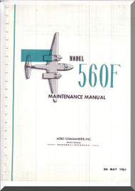 Aero Commander 560 F Aircraft Maintenance Manual - 1961